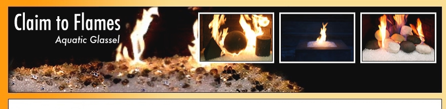 claim to flames, moderustic aquatic glassel, fireplace insert